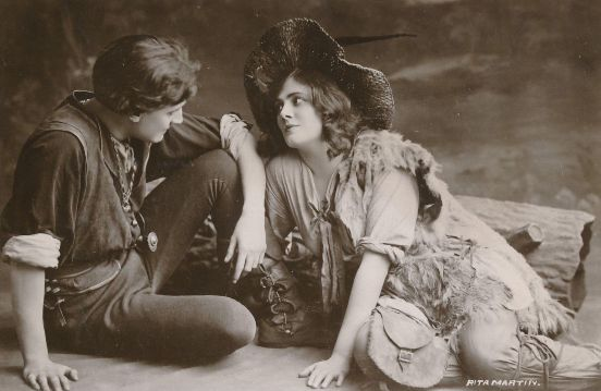 Henry Ainley and Lily Brayton in As You Like It, postcard