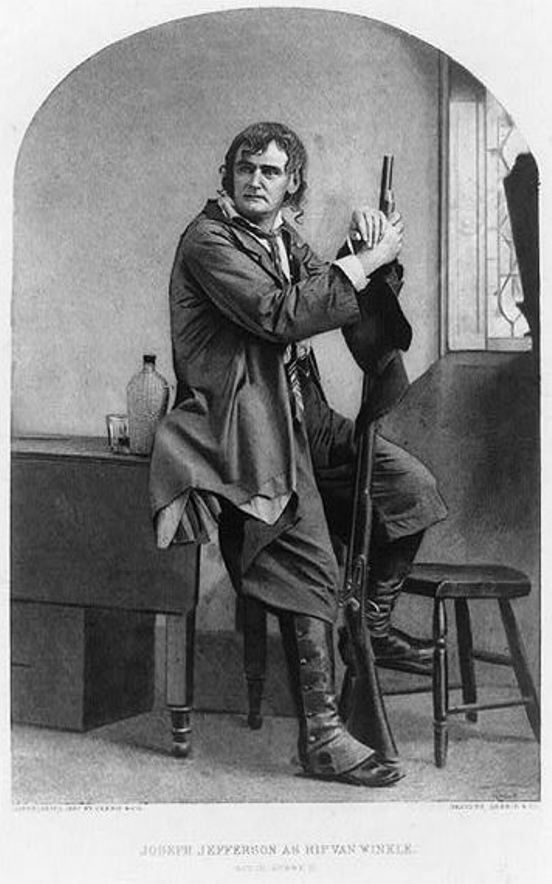 """Joseph Jefferson as Rip Van Winkle."" Gebbie & Co., copyright 1887. Prints and Photographs Division, Library of Congress"
