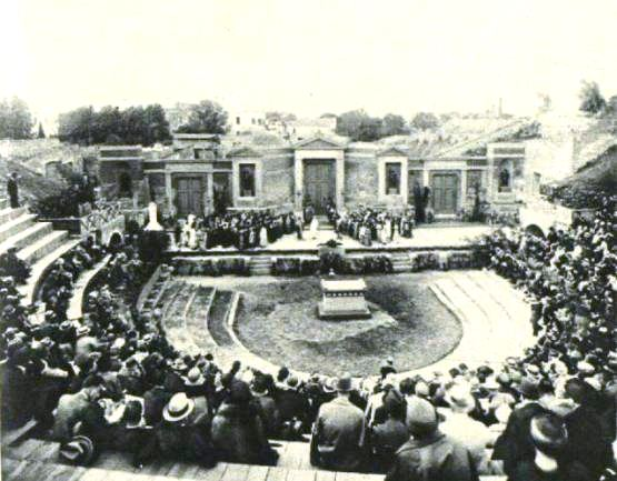Alcestis being performed at Pompeii, Illustrated London News, 28 May 1927