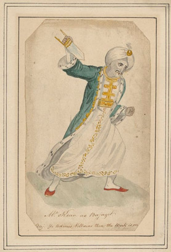 Isaac Robert Cruikshank, 'Mr Kean as Bajazet' (c.1815), H. Beard Print Collection, V&A