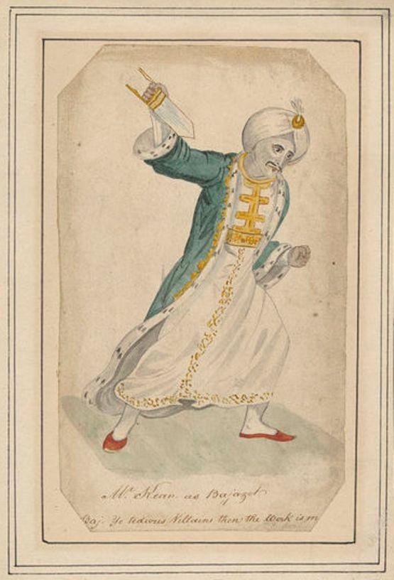 Isaac Robert Cruikshank, 'Mr Kean as Bajazet' (c.1815), H. Beard Print Collection, V&A