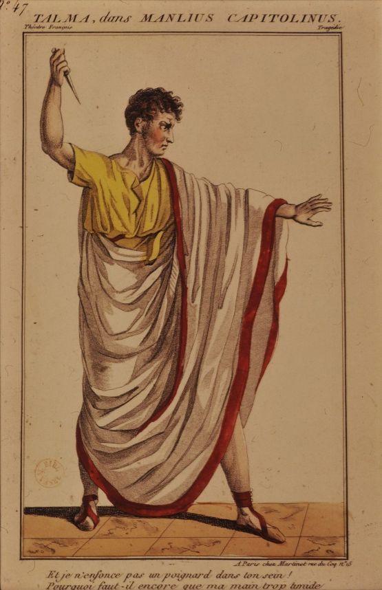 Talma in Manlius Capitolinus at Comédie-Française, 1806, via Gallica